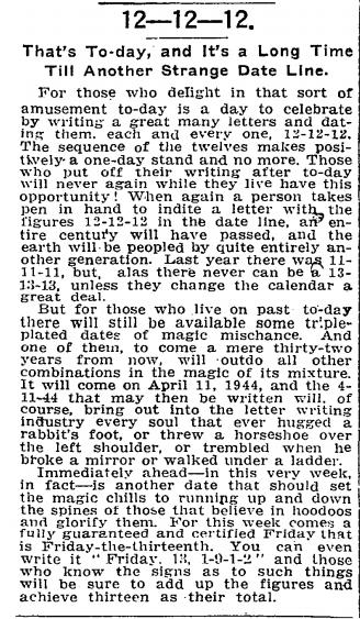 New York Times vom 12.12.1912