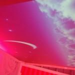 Ein animierter Himmel für das Bett